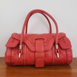 Botkier Red Leather Mini Duffel Satchel